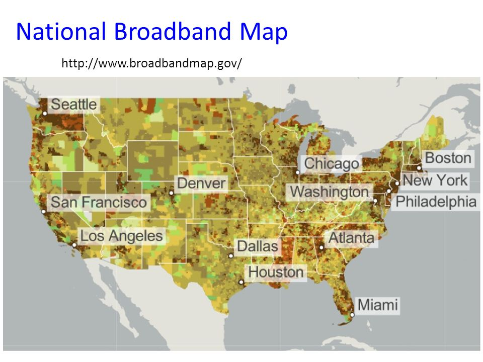 National Broadband Map http://www.broadbandmap.gov/