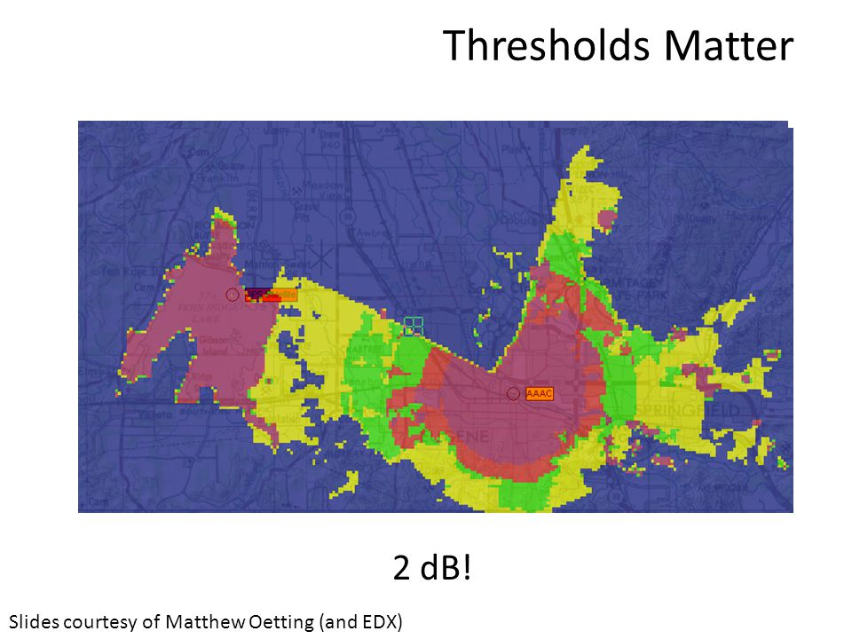 Thresholds Matter Slides courtesy of Matthew Oetting (and EDX) 2 dB!