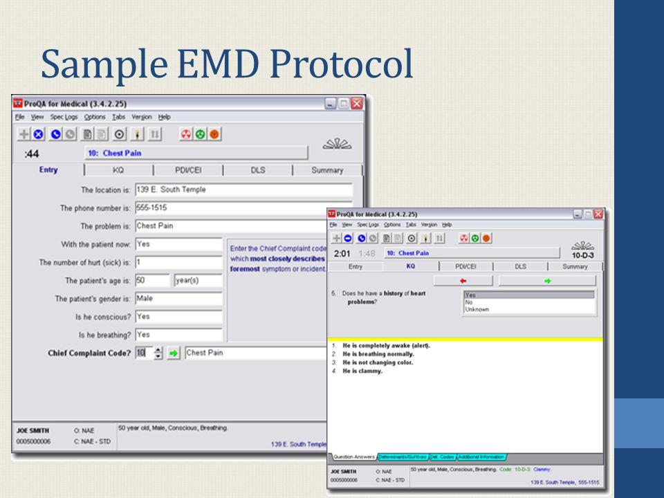 Sample EMD Protocol