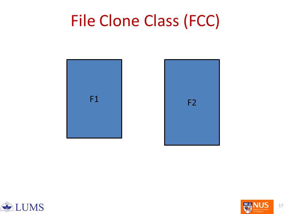 F1 F2 File Clone Class (FCC) 17