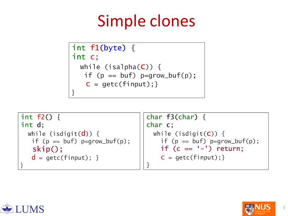 Simple clones 3