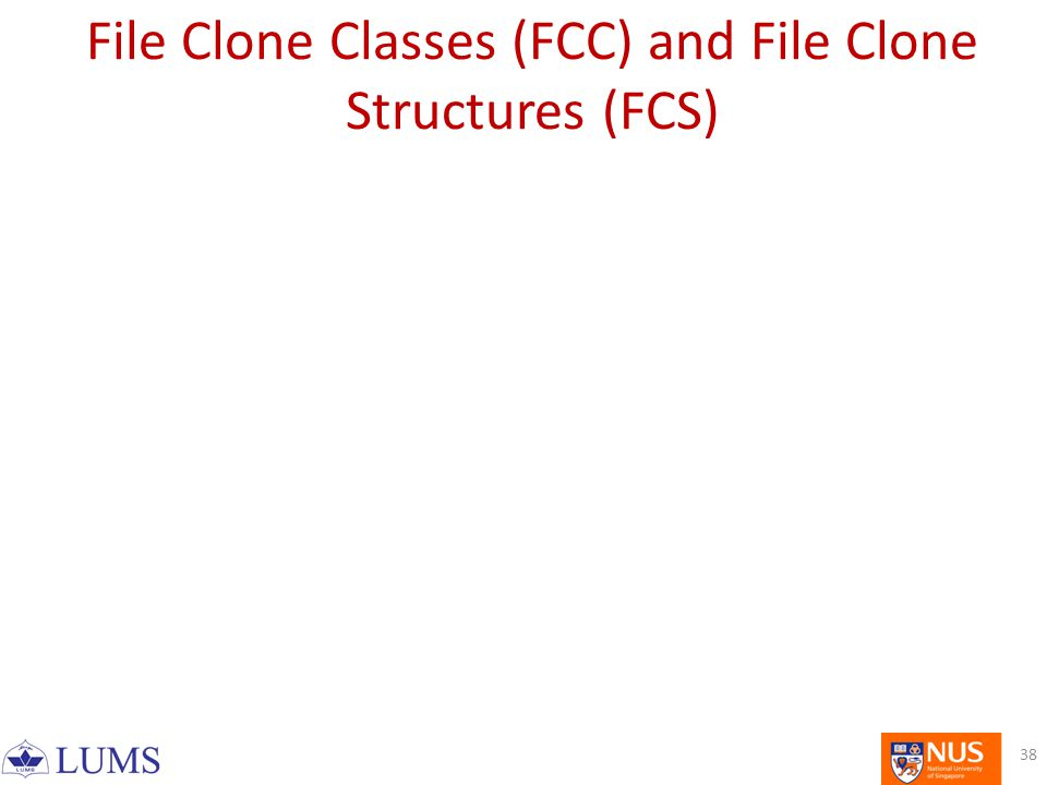 File Clone Classes (FCC) and File Clone Structures (FCS) 38