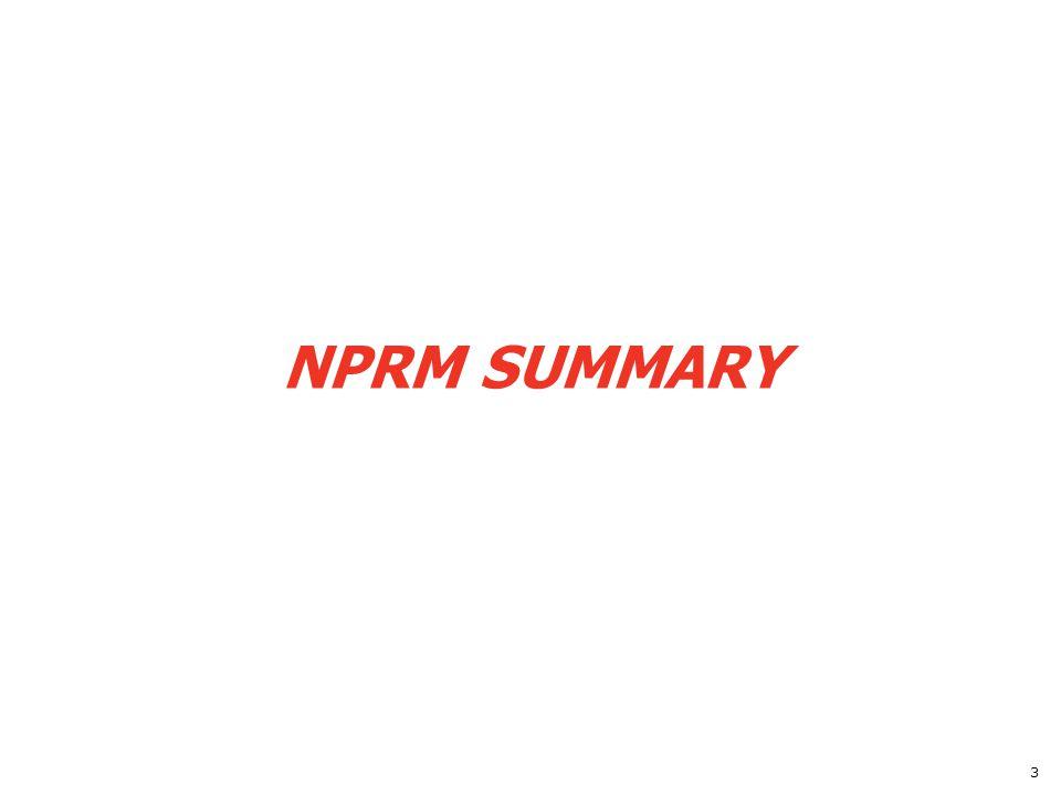 NPRM SUMMARY 3