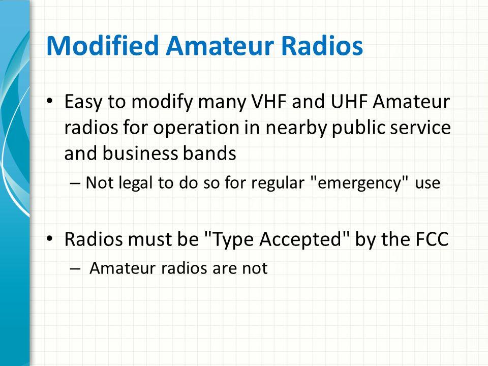 Can I Modify My Radio.