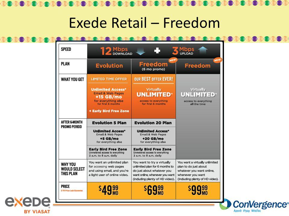 Exede Retail – Freedom