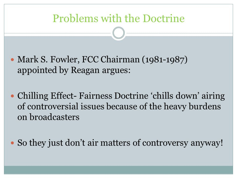 Problems with the Doctrine Mark S.