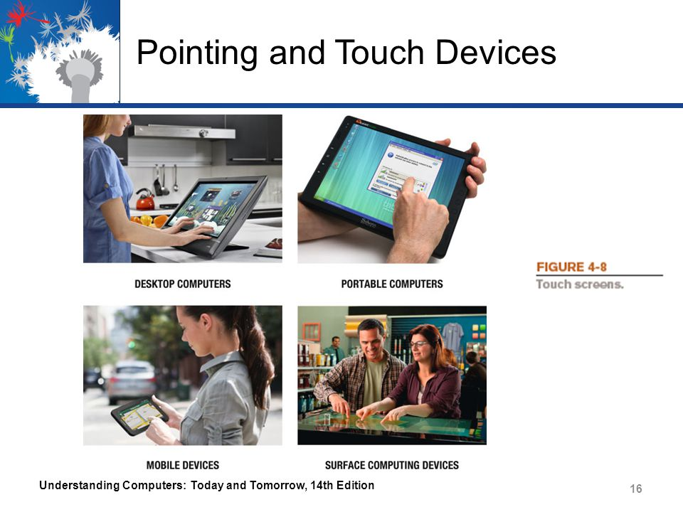 Pointing and Touch Devices Understanding Computers: Today and Tomorrow, 14th Edition 16