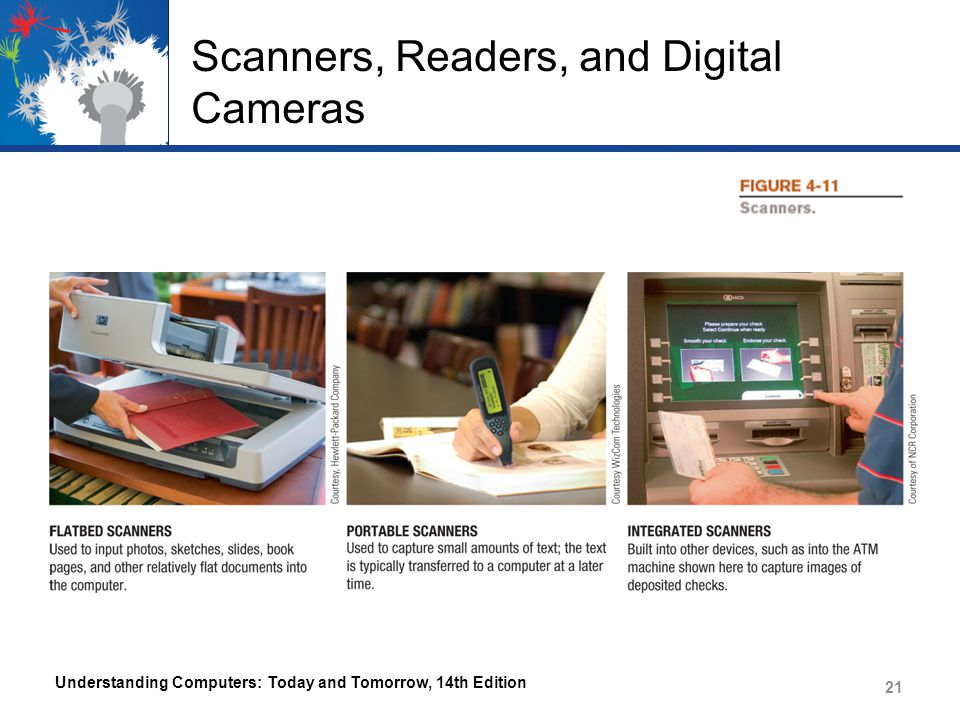 Scanners, Readers, and Digital Cameras Understanding Computers: Today and Tomorrow, 14th Edition 21