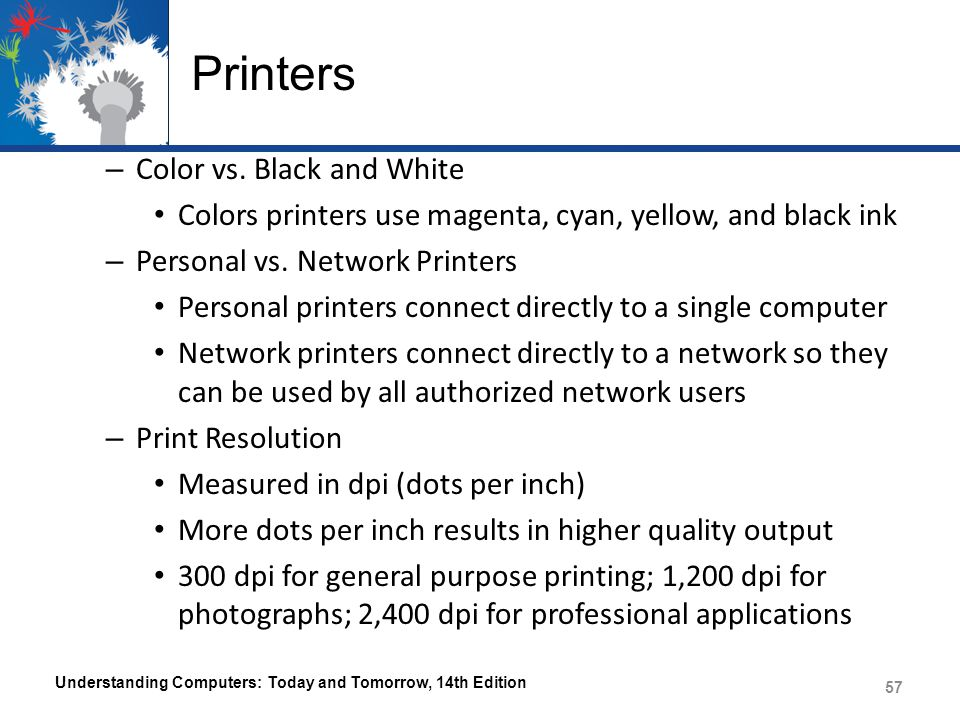 Printers – Color vs.