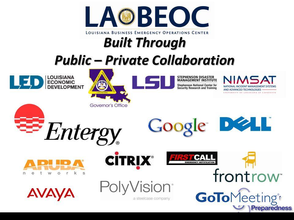 Built Through Public – Private Collaboration