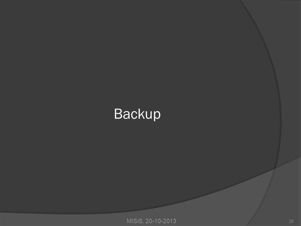 28 Backup MISiS, 20-10-2013
