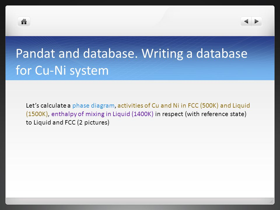 Pandat and database.
