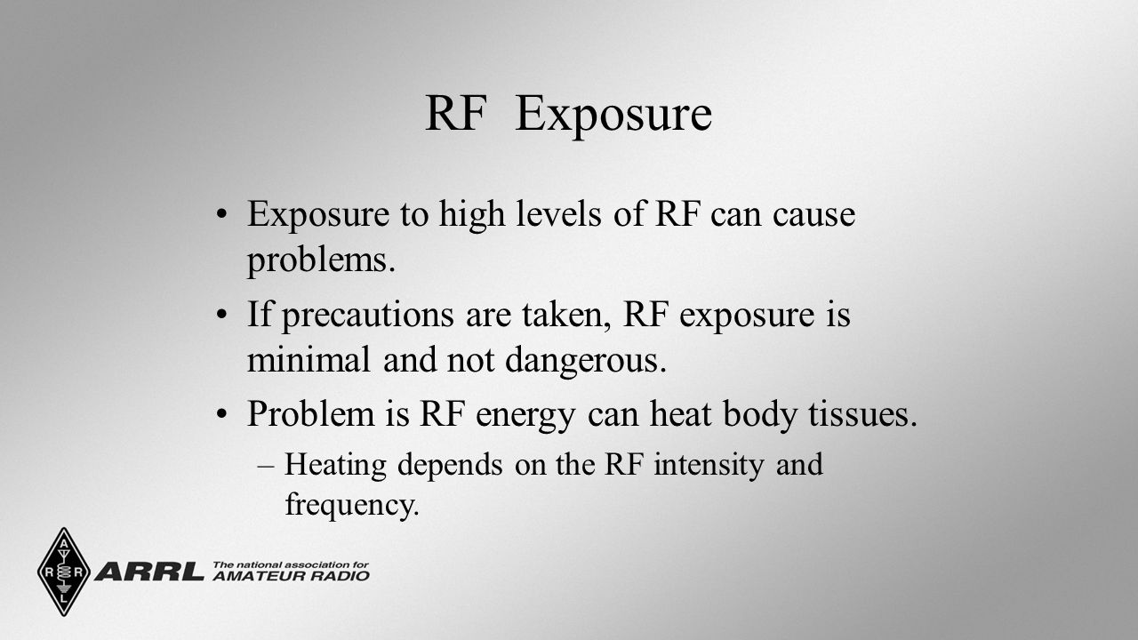 RF Exposure Exposure to high levels of RF can cause problems.