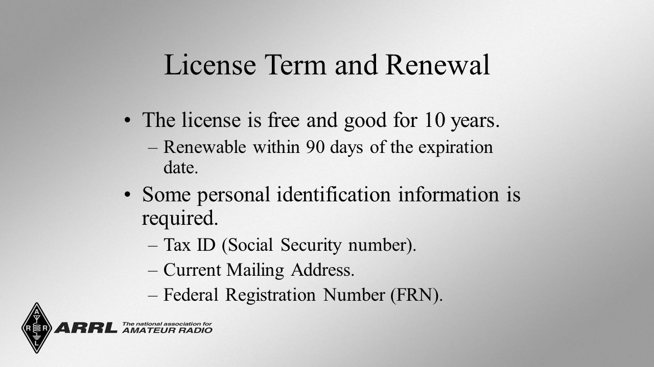 License Term and Renewal The license is free and good for 10 years.