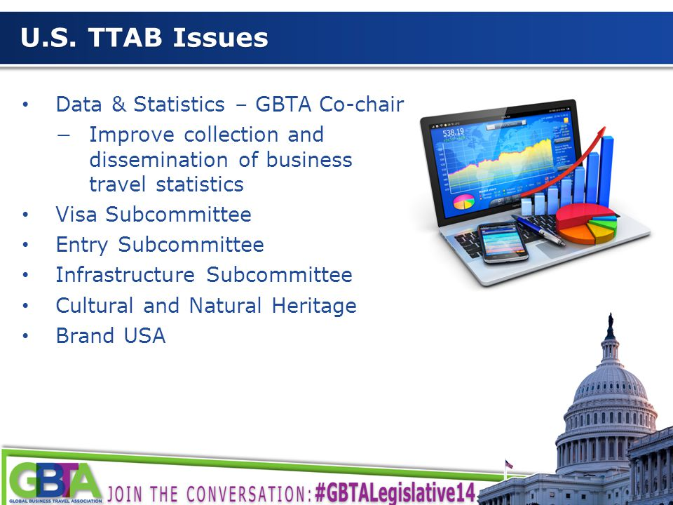 6 U.S. TTAB Issues Data & Statistics – GBTA Co-chair −Improve collection and dissemination of business travel statistics Visa Subcommittee Entry Subco