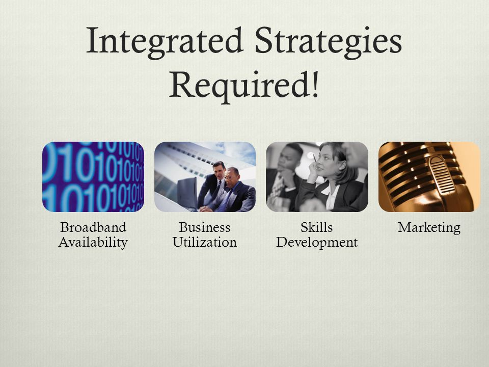Integrated Strategies Required.