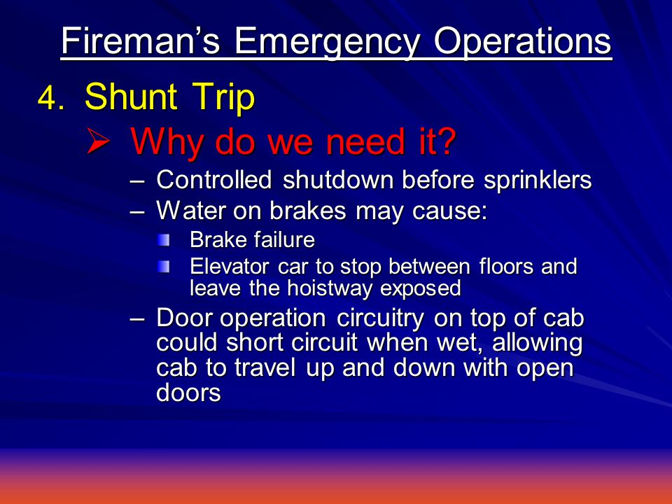 4. Shunt Trip  Why do we need it.
