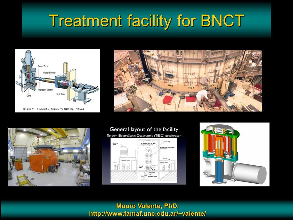 Prof. Mauro Valente - CONICET & Universidad Nacional de Cordoba 11 Treatment facility for BNCT Mauro Valente, PhD. http://www.famaf.unc.edu.ar/~valent
