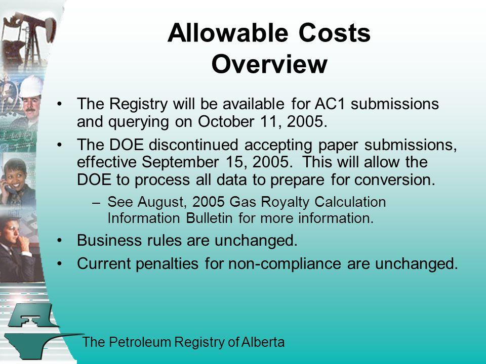 The Petroleum Registry of Alberta
