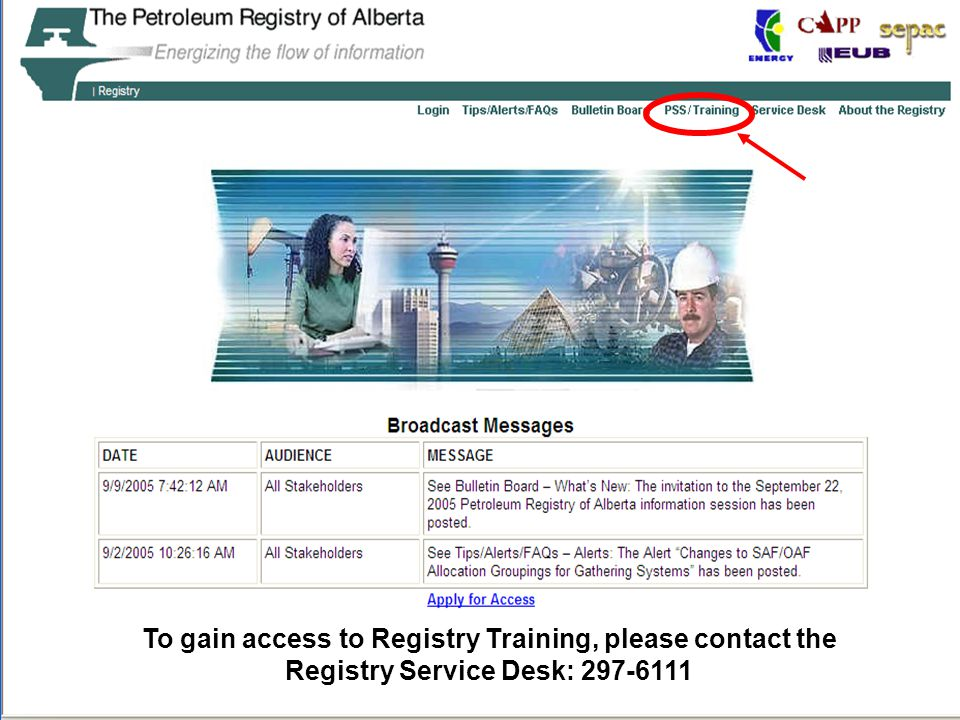 The Petroleum Registry of Alberta OTHER LEARNING TOOLS: Registry Training Modules: –8.0 Manage Allowable Costs (Knowledge) –8.1 Manage AC1: FCC Setup/change (Step by Step) –8.2 Manage FCC Operator Change (Step by Step) Registry Online Help Registry Tips & Alerts DOE Gas Royalty Information Bulletins DOE Gas Royalty Principles and Procedures CAPPA Conference Break-out Session (Nov 23, 2005) Allowable Costs