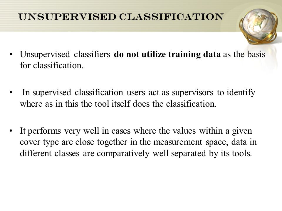 Image of Supervised classification