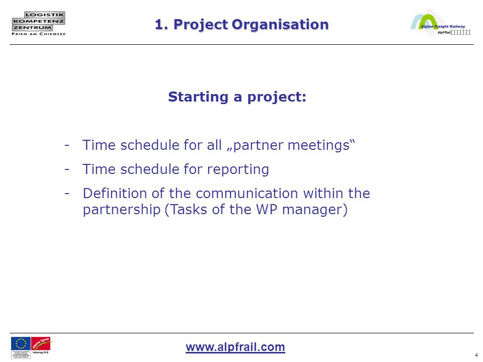www.alpfrail.com 25 Reporting from a Lead partner's point of view 5.Sending the data