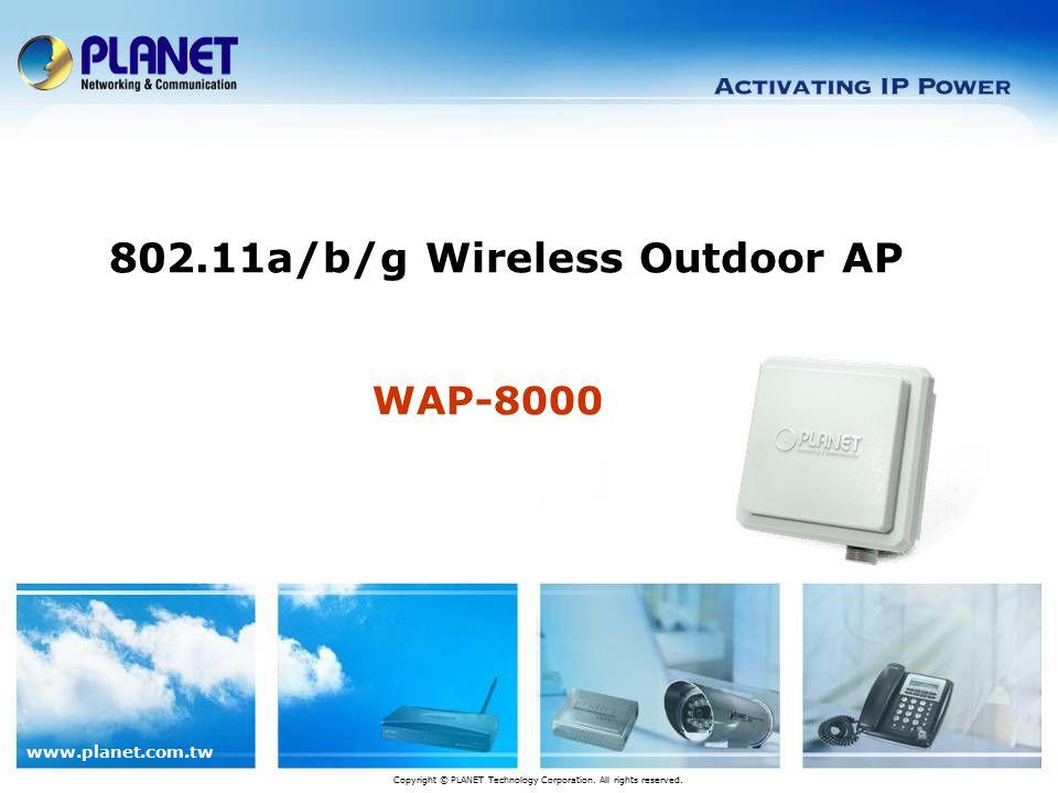 www.planet.com.tw Application WISP Connection Bridge: Point to Multiple Point