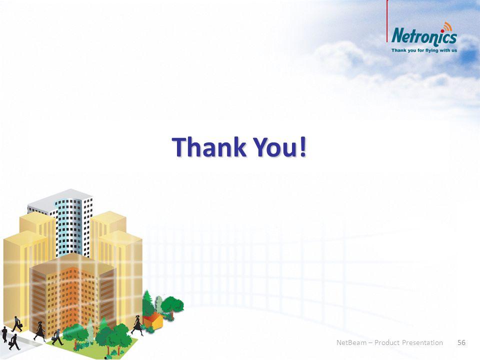56 NetBeam – Product Presentation 56 NetBeam – Product Presentation Thank You!