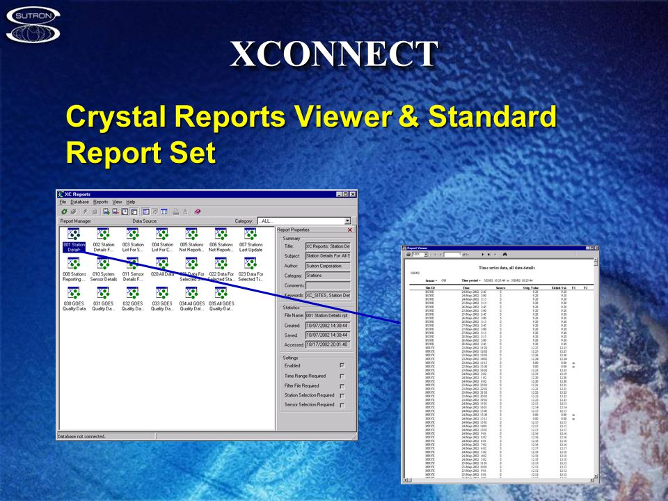 XCONNECTXCONNECT Crystal Reports Viewer & Standard Report Set