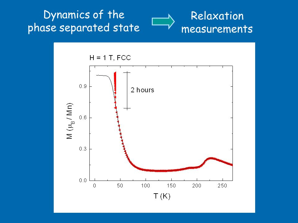 Dynamics of the phase separated state Relaxation measurements