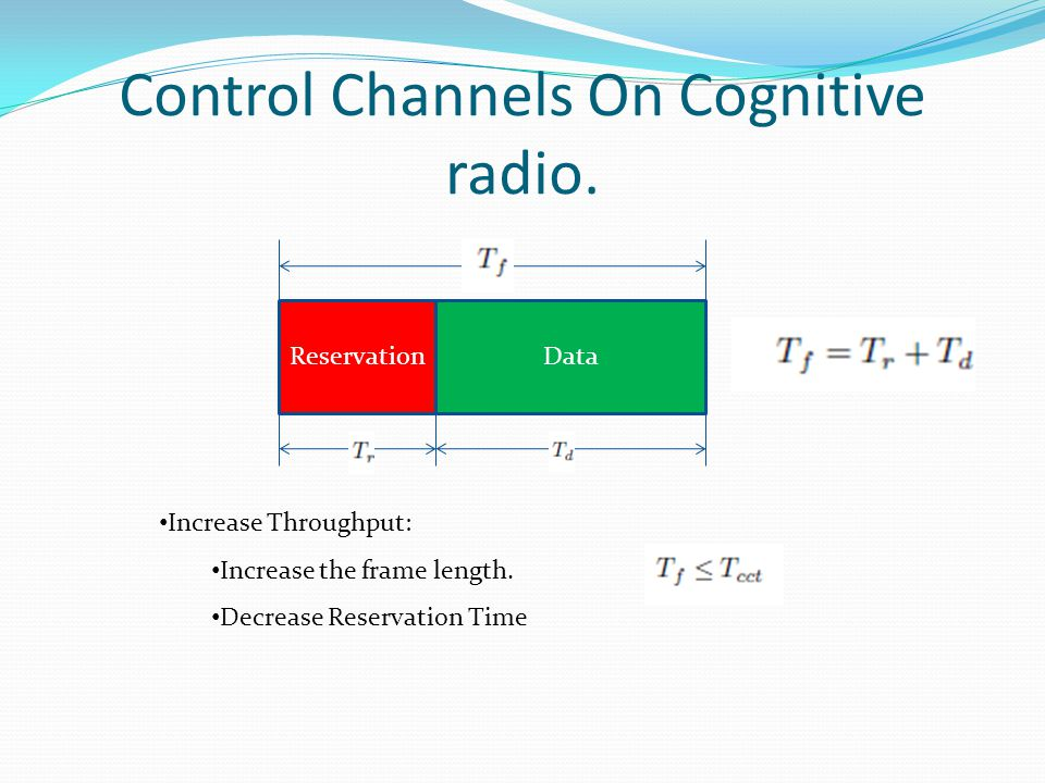 Control Channels On Cognitive radio.