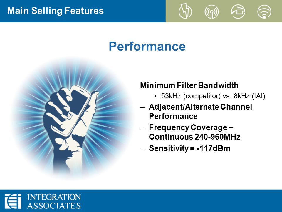 Page 11 CONFIDENTIAL EZRadioPRO Performance Minimum Filter Bandwidth 53kHz (competitor) vs.