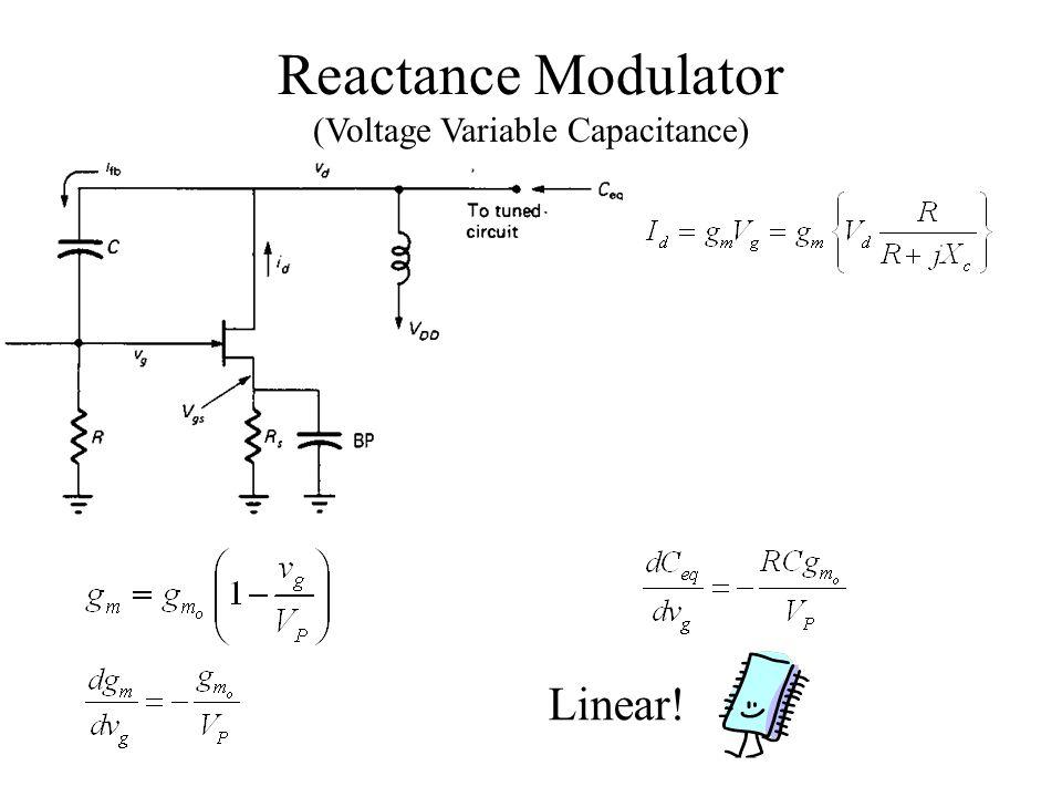 Reactance Modulator (Voltage Variable Capacitance) Linear!