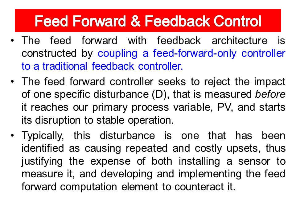 Feed Forward with Feedback Trim Architecture