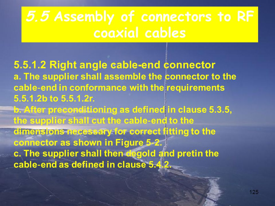 125 5.5.1.2 Right angle cable-end connector a.