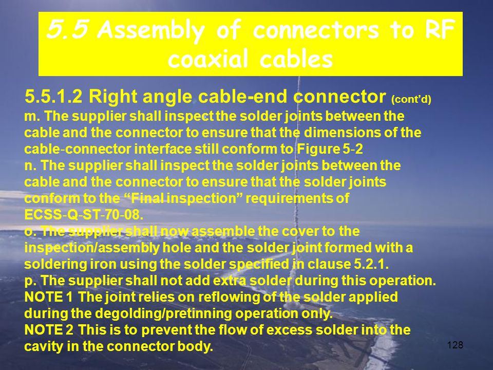 128 5.5.1.2 Right angle cable-end connector (cont'd) m.