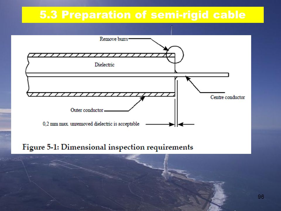 96 5.3 Preparation of semi-rigid cable