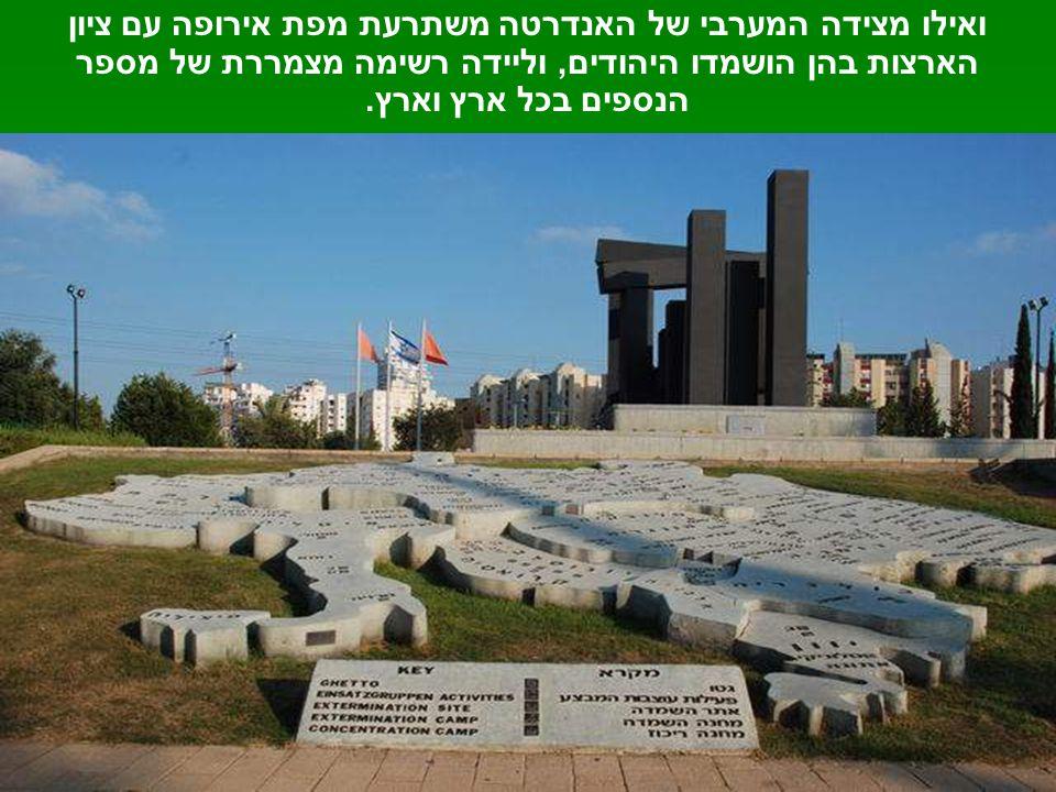 ומאנדרטת השואה מראה נאה אל מעבר לכביש – אל אנדרטת התקומה.