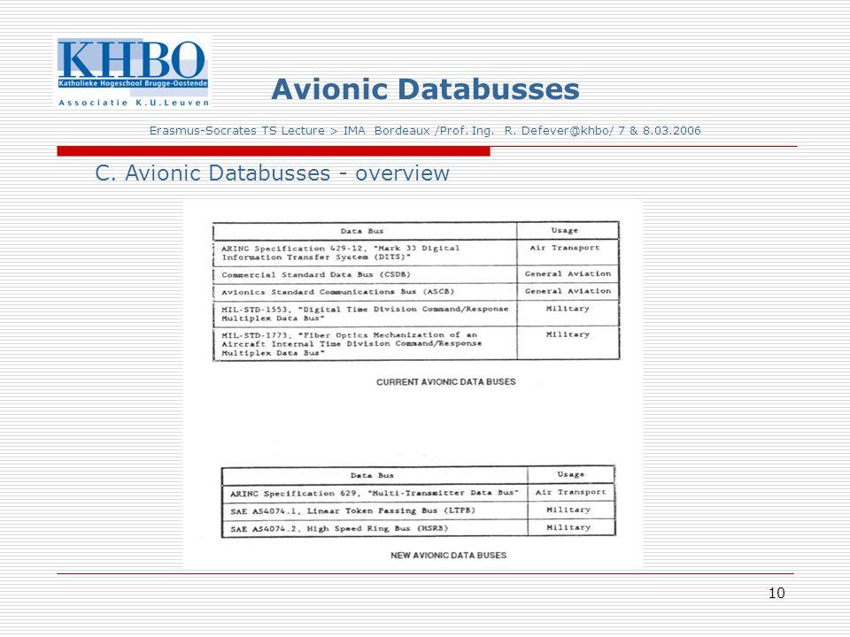 10 Avionic Databusses Erasmus-Socrates TS Lecture > IMA Bordeaux /Prof.