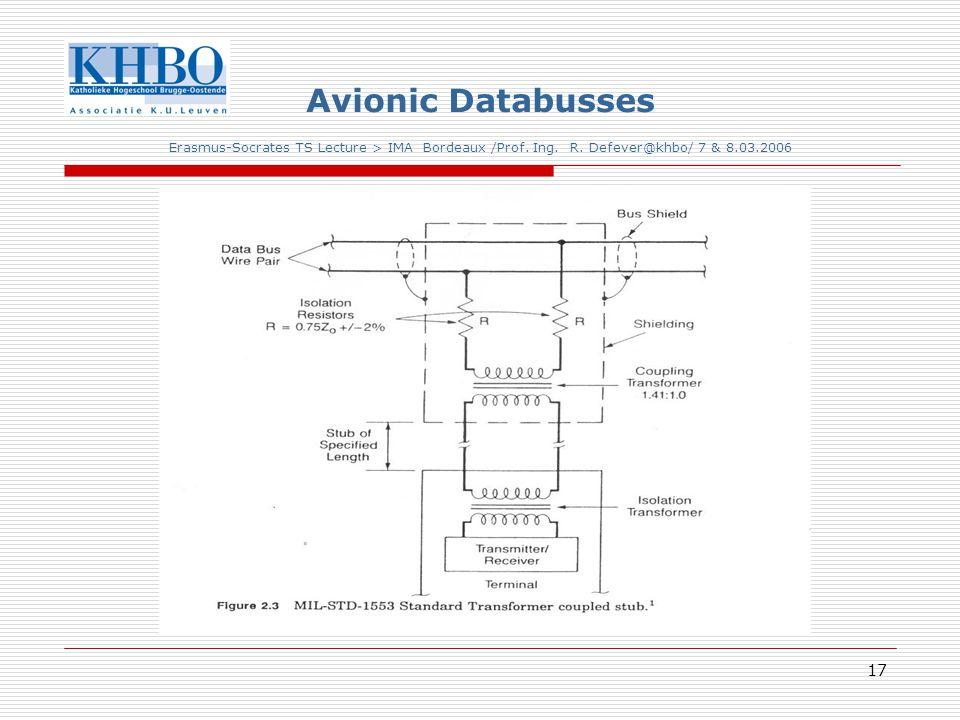 17 Avionic Databusses Erasmus-Socrates TS Lecture > IMA Bordeaux /Prof.