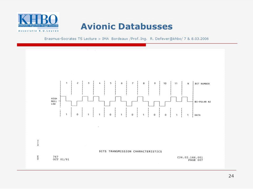 24 Avionic Databusses Erasmus-Socrates TS Lecture > IMA Bordeaux /Prof.