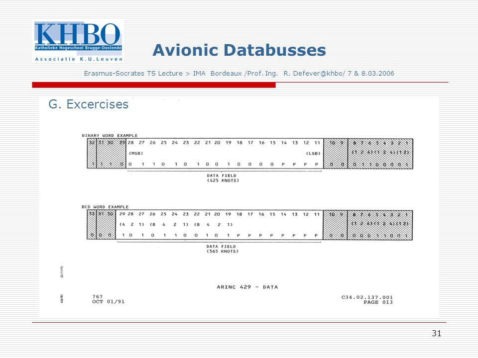 31 Avionic Databusses Erasmus-Socrates TS Lecture > IMA Bordeaux /Prof.