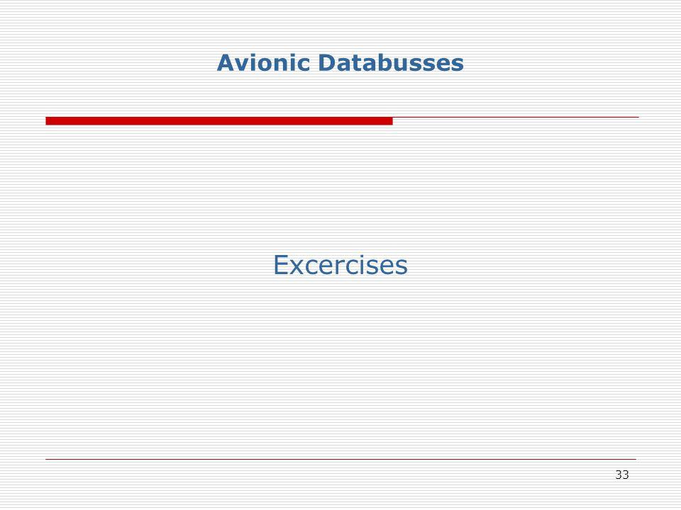 33 Avionic Databusses Excercises