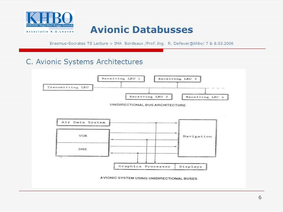 6 Avionic Databusses Erasmus-Socrates TS Lecture > IMA Bordeaux /Prof.