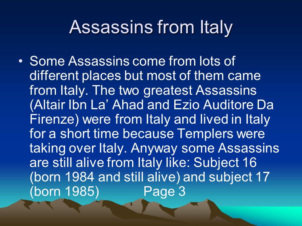 Leonardo Da Vinci Leonardo Da Vinci was a artist and Assassins weapon maker.