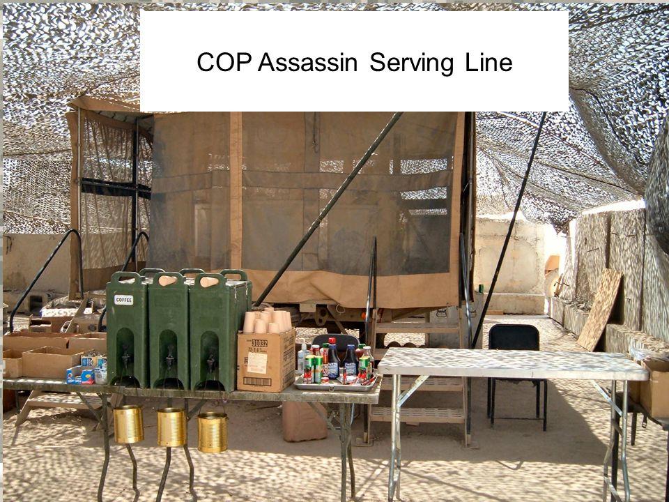 Warrior Logisticians 11 COB Assassin Dining Area