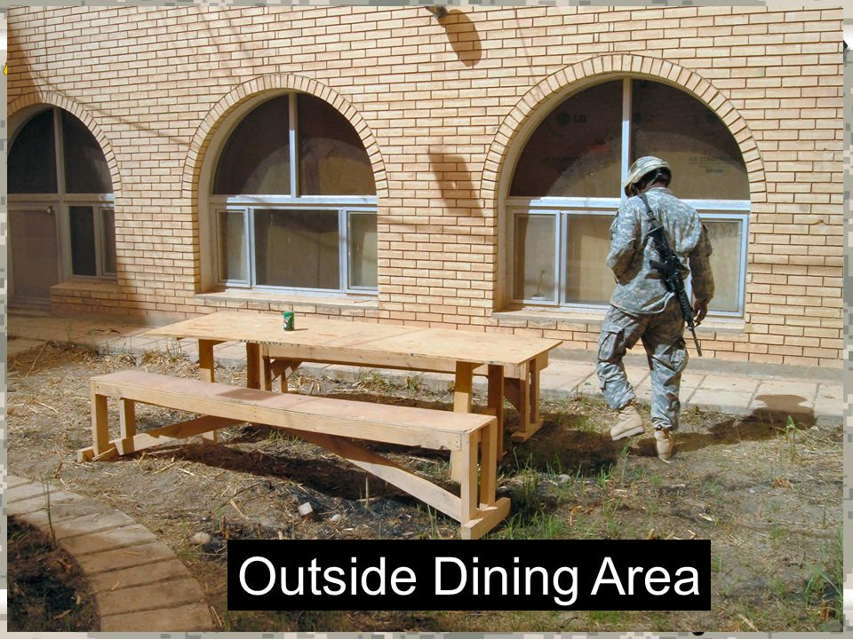 Warrior Logisticians 20 Outside Dining Area