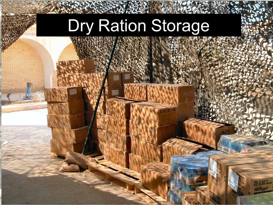 Warrior Logisticians 22 Dry Ration Storage