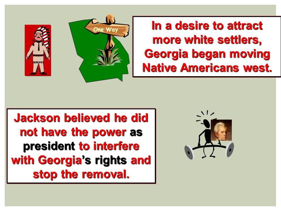 The forced removal and journey west of Native Americans.