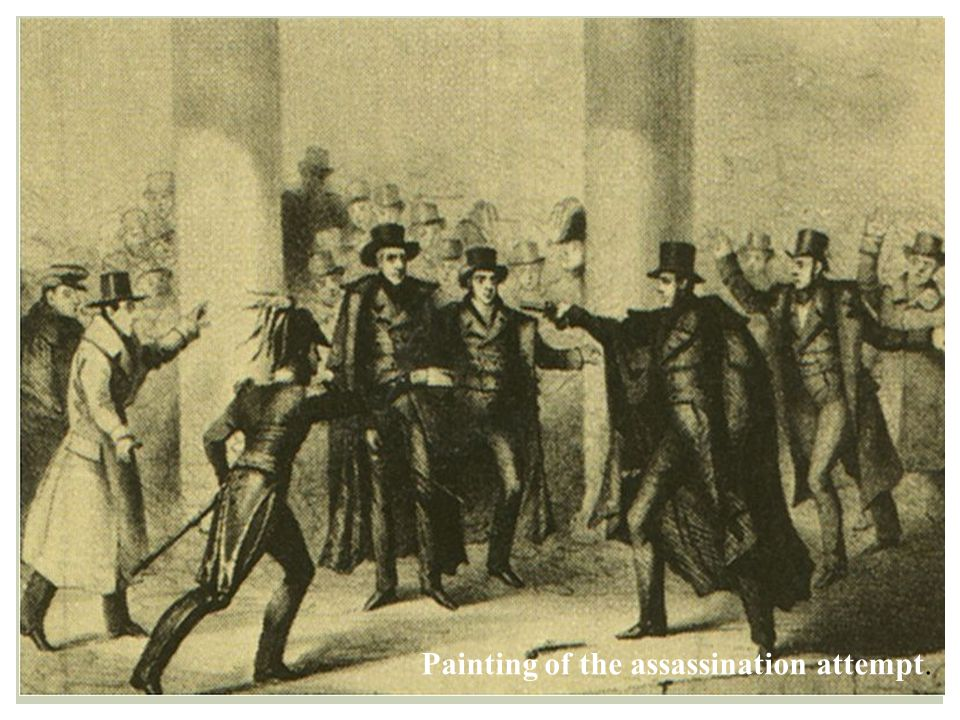 Painting of the assassination attempt.